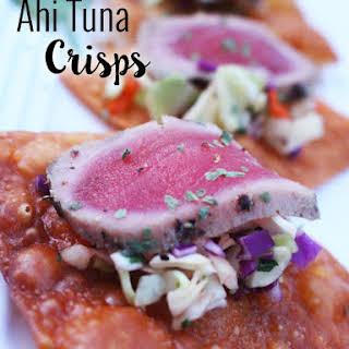 Ahi Tuna Crisp Appetizers.