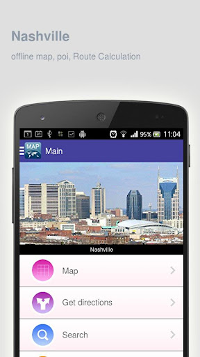 Nashville Map offline