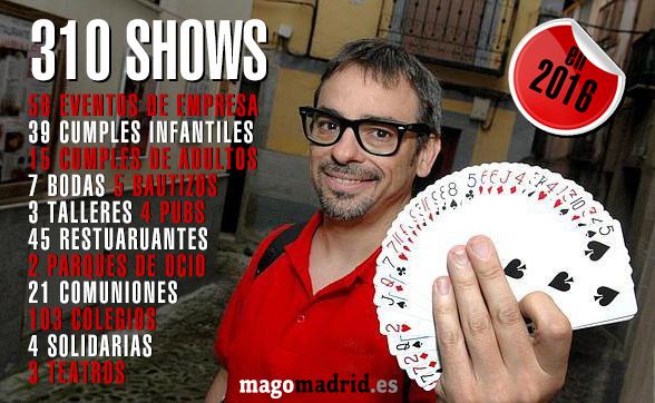 Resumen de actuaciones de mago madrid alfonso V en 2016