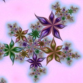 Flowers 17 by Cassy 67 - Illustration Abstract & Patterns ( digital, love, harmony, surreal, flowers, art, abstract art, trippy, abstract, creative, flower, fractals, digital art, psychedelic, modern, light, fractal, style, energy, fashion )