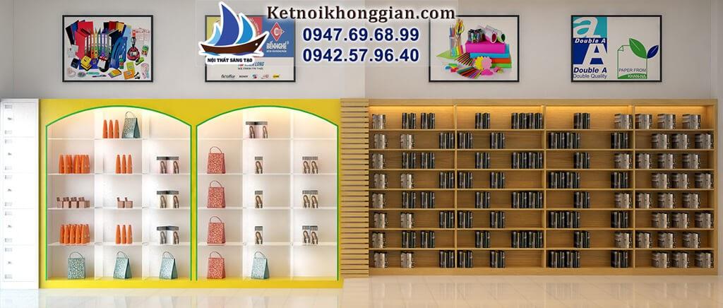 thiết kế nhà sách với nội thất đa dạng