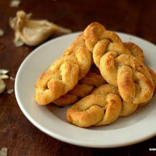 Braided Garlic Breadsticks.