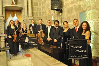 Photo: Camerata Mansão Musical e Quarteto de Cantores Líricos (Trio de Cordas, Flauta, Trompete e Teclado) Catedral de Pedra - Gramado - RS