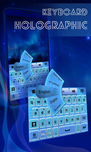 Holographic Keyboard Theme