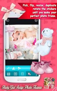 Baby Girl Scrap Photo Frames - náhled