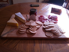 Photo: Charcuterie. Requires a cheese knife. But like... a little one.