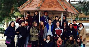 Alumnos del Mar Mediterráneo con otros de intercambio.