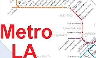 Screenshot of Los Angeles Subway Map