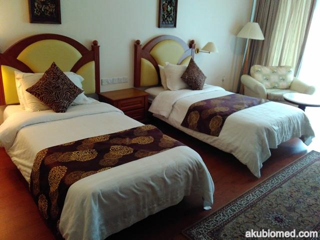 Bilik Deluxe dengan 2 katil twin bed
