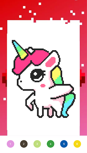 Unicorn Pixel  - Color By Number - screenshot
