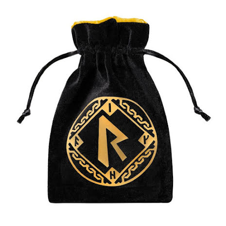 Runic Black & golden Velour Dice Bag (release 2021)