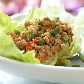 Satay Pork Lettuce Cups
