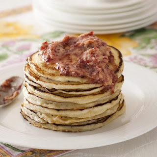 Buttermilk Pancakes with Raspberry Butter.
