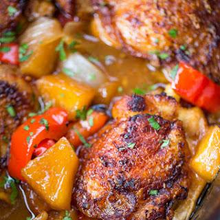 Slow Cooker Hawaiian Pineapple Chicken.