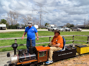 Photo: Gerald Lee and Steamer Bill Smith     HALS Chili Fest Meet 2014-0301 RPW   11:49 AM