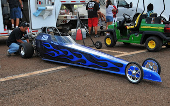 Photo: Kylee Kametani's dad, Ricky, tunes her great looking Jr. Dragster.