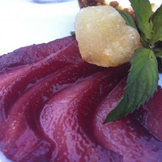 Scarlet Poached Pears.
