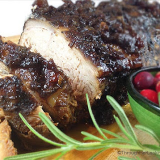 Slow Cooker Cranberry Crusted Dijon Pork Roast