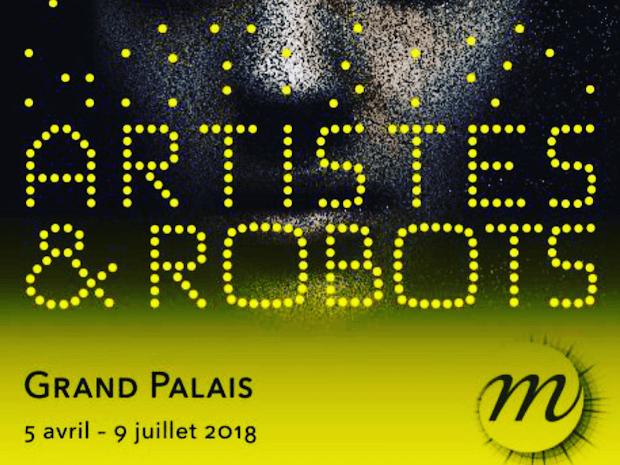 les robots de junny au grand palais paris pour l'expo Artistes et robots