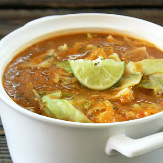 Fat Burning Cabbage Tortilla Soup