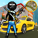 Crazy Stickman Taxi Driver Rope Hero Gang Star icon