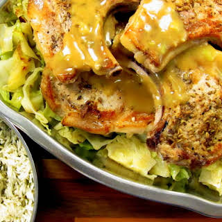 Pressure Cooker Pork Chops and Cabbage - one pot meal.
