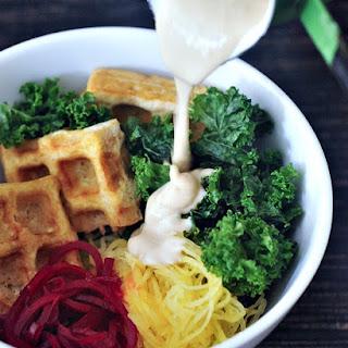 Vibrant Spaghetti Squash Bowl with Smoky Waffled Tofu