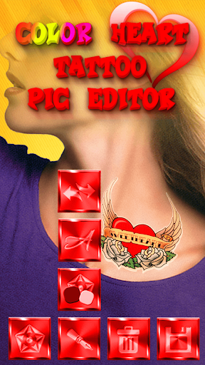 Download Color Heart Tattoo Pic Editor for PC