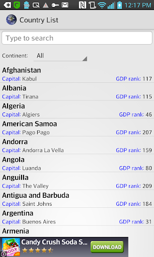 Country List Simple