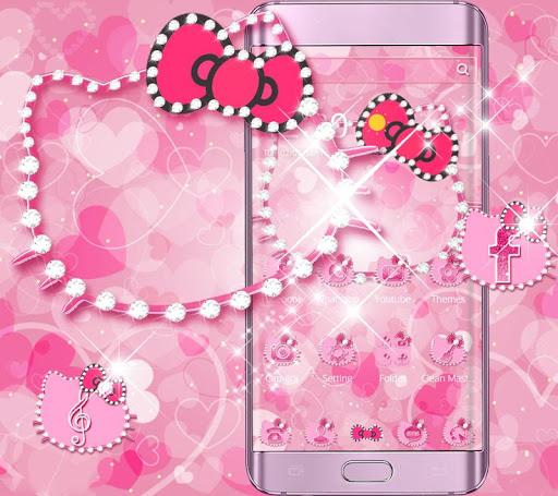 Pink Kitty Diamond Theme screenshot