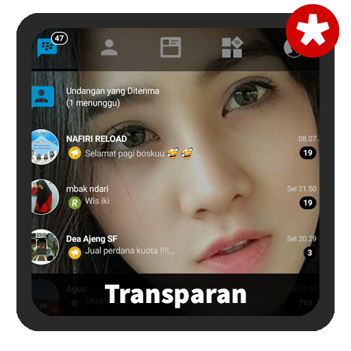 Guide for BBM Transparan Terbaru Delta tips