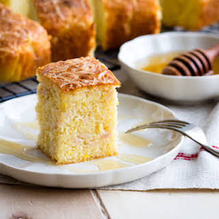 Savory Cornbread with Turkey and Cheese.