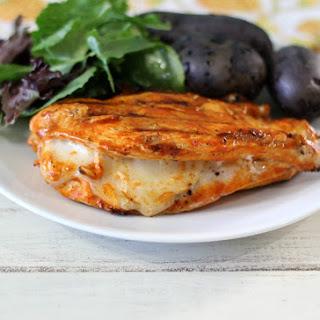 Grilled Cheesy Buffalo Chicken.