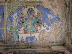 Photo: Melsithamur Jain Temple-Ceiling Painting  Jain God - Brahma Devar