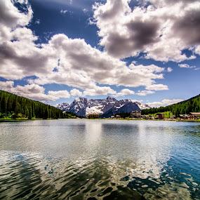 Misurina lake. by Mattia Bonavida - Landscapes Waterscapes ( clouds, water, sky, dolomites, nikon, landscape )