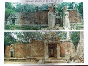 Photo: Information about the restoration of Ta Phrom.