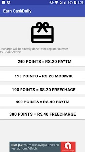 Earn Cash Daily - Paytm Freecharge & Mobikwik Cash - náhled