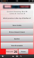 Screenshot of Canada Trivia
