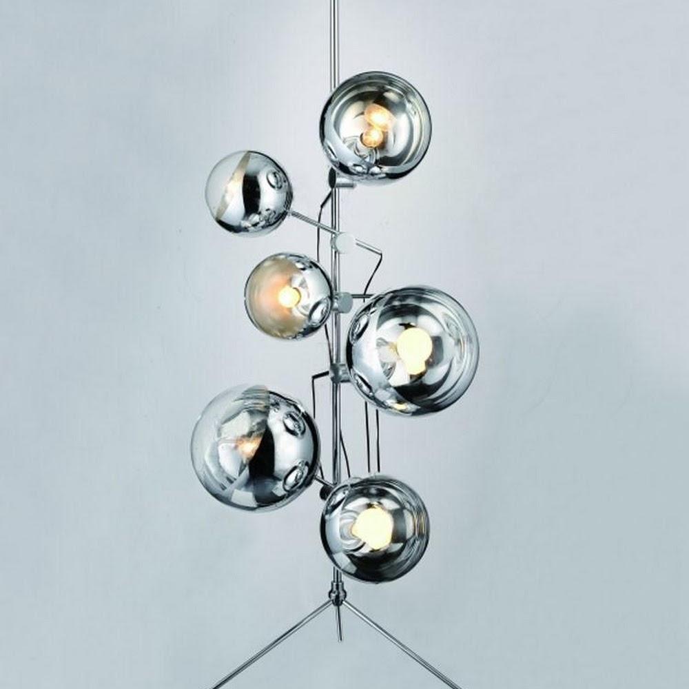 MIRROR BALL STAND LIGHT   DESIGNER REPRODUCTION