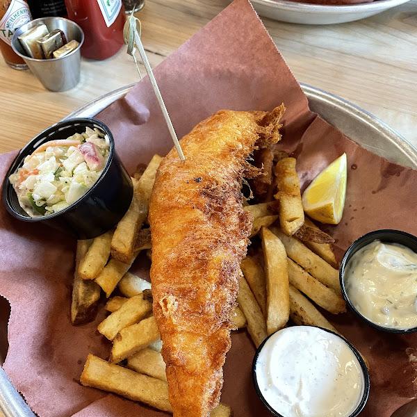 GF Walleye fish n chips!!