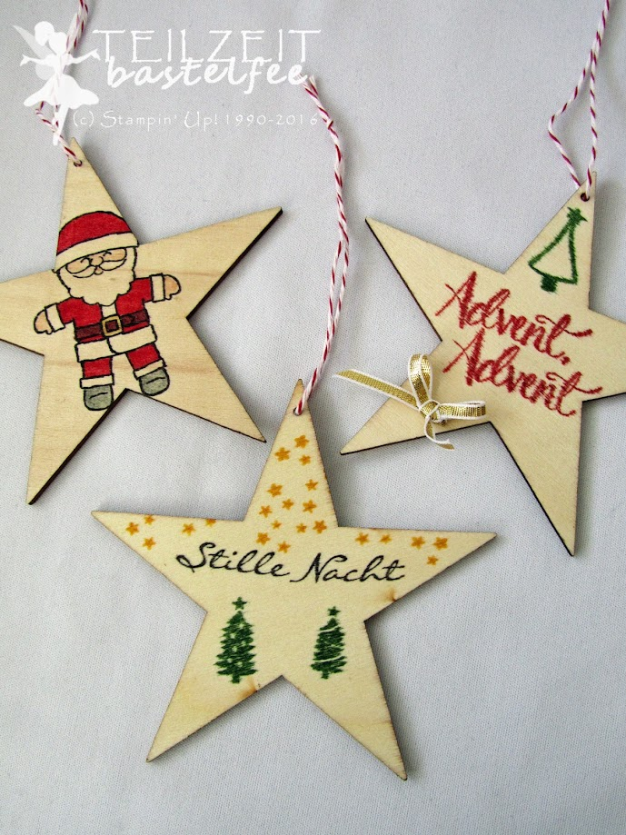 Stampin' Up! – In{k}spire_me #328, Christmas, Weihnachten, Behang, hanging decoration, stars, Kling Glöckchen, Jingle all the Way, Ausgestochen weihnachtlich, Cookie Cutter Christmas, Watercolor Christmas, Malerische Weihnachten