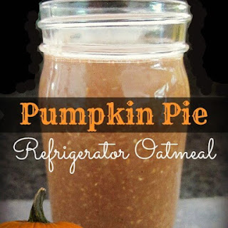 Pumpkin Pie Refrigerator Oatmeal (no cook).