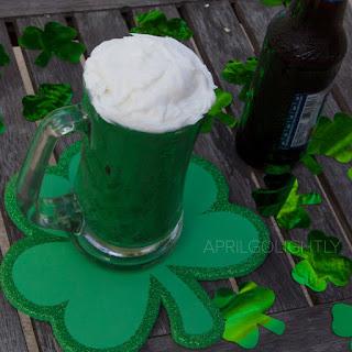 Green Beer Mug Cake