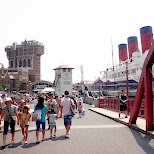 American Waterfront with Tower of Terror in Urayasu, Tiba (Chiba) , Japan