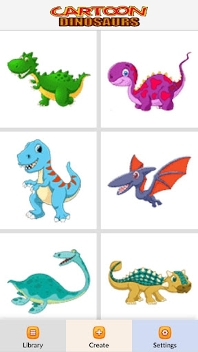 Cartoon Dinosaurs Color by Number - Pixel Art Game android2mod screenshots 2