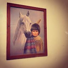 Photo: the artwork decorating our wigwam
