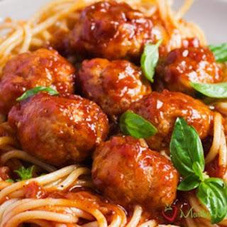 Mama's Italian Spaghetti with Meatballs