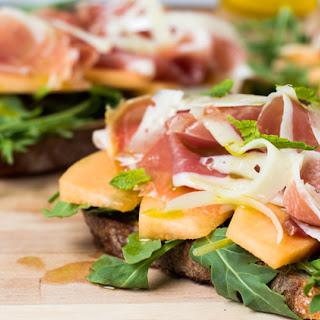 Serrano Ham, Melon, and Arugula Sandwich