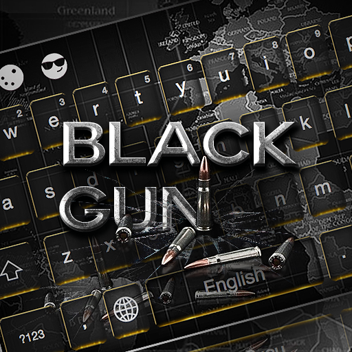 Black Gun Keyboard Theme
