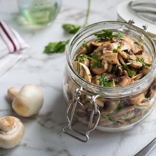 Garlic Red Wine Vinegar Marinated Mushrooms Recipes